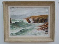 Tableau peinture huile tempête côte sauvage Quiberon Bretagne Dealacour