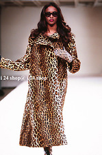 NEW $12K ALAIA BROWN-LEOPARD PONY HAIR CALFSKIN LEATHER FISHTAIL COAT-