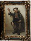 Brown Shine, Sir? 1885 Wood Framed Canvas Print Repro 12x18