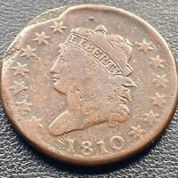 1810 Large Cent Classic Head One Cent 1c Rare  Better Grade #25369