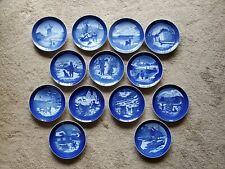 Royal Copenhagen Christmas Plates Lot of 13