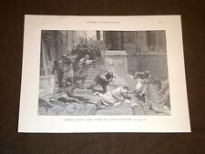 Storia di Roma Tiberio Gracco ucciso Clivio Capitolino Incisione di L. Pogliaghi