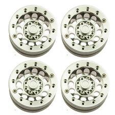 "4pcs Metal 1/10 RC Crawler 1.9"" Beadlock Spoke Wheel Rims Set for SCX10 D90 D110"