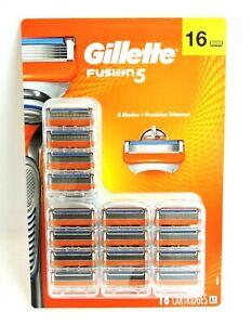 GENUINE Gillette Fusion 5 Men's Razor Blade Refills 16 - FAST, FREE SHIPPING