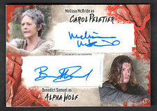 THE WALKING DEAD SURVIVAL BOX Topps DUAL AUTOGRAPH CARD Melissa McBride & Samuel