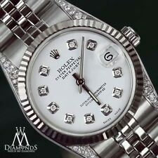 Rolex 31mm Datejust White Color Diamond Dial & Lugs 18K & SS Women's Watch