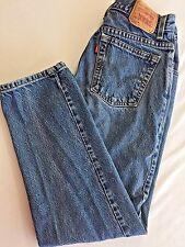 10 Short 550 Levis Denim Jeans Higher Waist Mom Relaxed Fit Taper Leg Broken In
