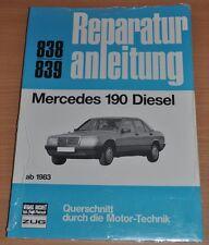 Mercedes 190 W201 Diesel ab 1983 Motor Getriebe Elektrik Repparaturanleitung