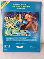 L1 Secret of Bone Hill Advanced Dungeons & Dragons 1st Printing TSR Module 9045