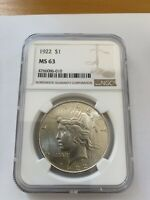 1923 Peace Silver Dollar - Graded NGC MS 63