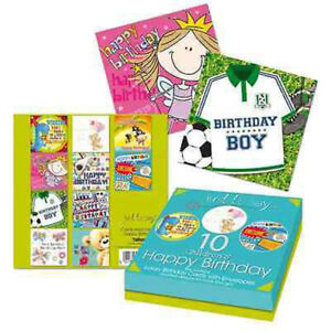 24 Luxury Birthday Cards Anniversary Kids Adults Get well Thank You Card Mixed