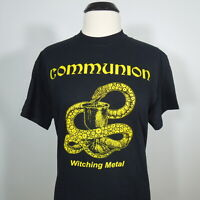 COMMUNION Witching Metal T-Shirt Black Men's size XL (NEW)
