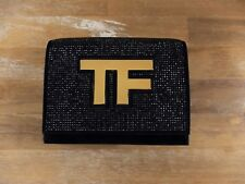 TOM FORD Icon black suede clutch bag authentic - New in Box