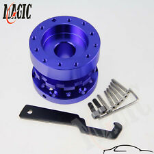 ADJUSTABLE EXTENSION STEERING WHEEL HUB ADAPTER SPACER BOSS KIT 45MM TO 70MM BL