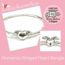 Authentic Genuine PANDORA Moments Winged Heart Bangle 19cm - 599379C00