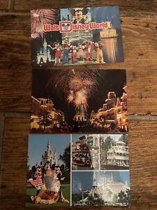 Three Walt Disney World Postcards