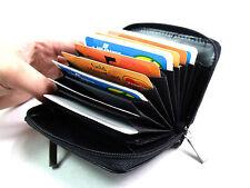 JOB LOT BLACK REAL LEATHER CONCERTINA STYLE CREDIT CARD HOLDER  24 Pcs Code 1234