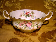 """VINTAGE ROYAL ALBERT """"MOSS ROSE"""" CREAM SOUP CUP MADE IN ENGLAND"""