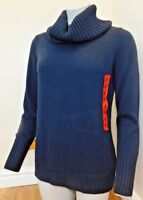 Nautica ladies Soft Knitted Turtle Neck Long Sleeve Semi Fitted Sweater BNWT