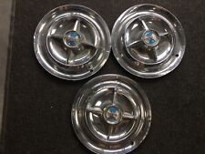 """1956 Dodge Satellite Hubcaps Wheel Covers 15"""" Spinners Factory Set of 3 #DE56SWC"""