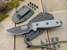 Couteau ESEE Model 3 Lame Carbone 1095 Serr Manche Micarta Etui Kydex USA ES3SB