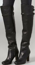 Sam Edelman Sutton Zip Over The Knee Black Leather Heel Boots US Sz 7.5