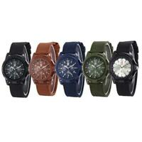 Herren Nylon Uhrenarmband Army Military Watch Quarzwerk Sport Armbanduhr Ca F4G0