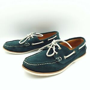 RM Williams Womens Size 37/6 Green Suede Leather Moccasin Boat Shoes Loafers