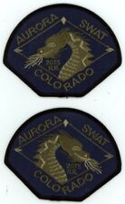 AURORA POLICE COLORADO CO SWAT SUBDUED MIRRORED SET PATCH SHERIFF