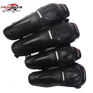Motocross Racing Sport KNEE SHIN GUARDS MOTO-X Pro Biker Enduro Armour 4 Pads MX