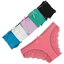 2,5,10 Pack Ladies Sexy Underwear Cotton Lace Womens Cute Knickers Lingerie