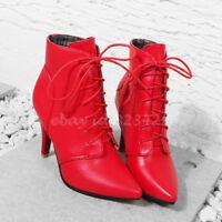 OL Vogue Damenstiefel Ankle Boots High Heels Spitz Zehe Schuhe Stiefeletten TOP