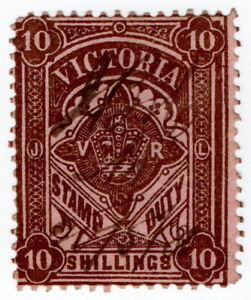 (I.B) Australia - Victoria Revenue : Stamp Duty 10/-