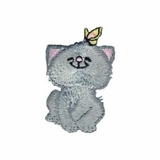 Simplicity Cat With Butterfly Motif Applique
