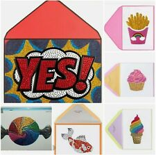 LOT OF 7 PAPYRUS JUDITH LEIBER GEMMED JEWELS BIRTHDAY BLANK CARDS $80 RETAIL NWT