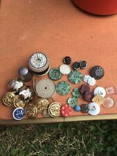 vintage Selection Haberdashery Military & glass buttons Deans Tape Measure