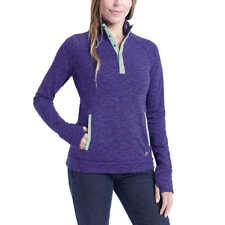 Avalanche Ladies' Snap Neck Pullover , Purple, Size M