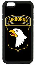 US Airborne USA Military Army Black Case Cover for iPhone 4 4s 5 5s 5c 6 6 Plus