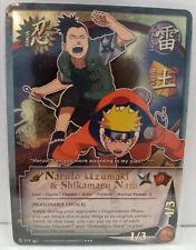 """Naruto Uzumaki & Shikamaru Nara """"Reasonable Choice"""" N-278 Super Rare NM"""