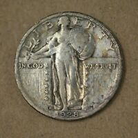 1928-S STANDING LIBERTY QUARTER VF+ LOW MINTAGE  A-143