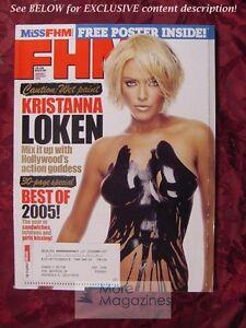 FHM January/February 2006 KRISANNA LOKEN Miss FHM LAUREN HARRIS SARAH BURKE