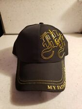My Father Cigars Black With Gold Trim Baseball Hat Adjustable Size