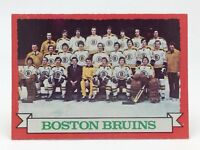 1973 74 OPC O Pee Chee Team Card 93 Boston Bruins Hockey Card E636