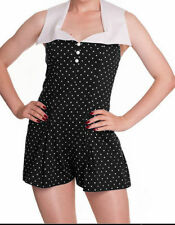 Collared Spotted Sleeveless Jumpsuits & Playsuits for Women