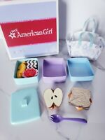American Girl Stackable Lunch Set School Retired 9pc with Box AG Tissue EUC