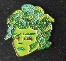 Medusa Snake Hair Pin Broach Button #Lcps