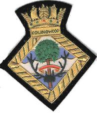 British HMS Royal Navy Colingwood Stone Frigate Patch Badge Ship Battleship War