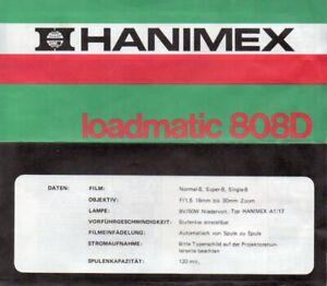 Bedienungsanleitung Manual Filmprojektor Hanimex Loadmatic 808D