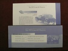 Franklin Mint Paperwork Set- 1937 Cord 812 Phaeton Coupe