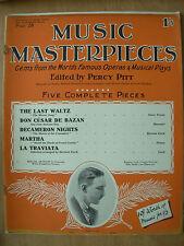 VINTAGE SHEET MUSIC BOOK - MUSIC MASTERPIECES PART 26 - 5 COMPLETE PIECES